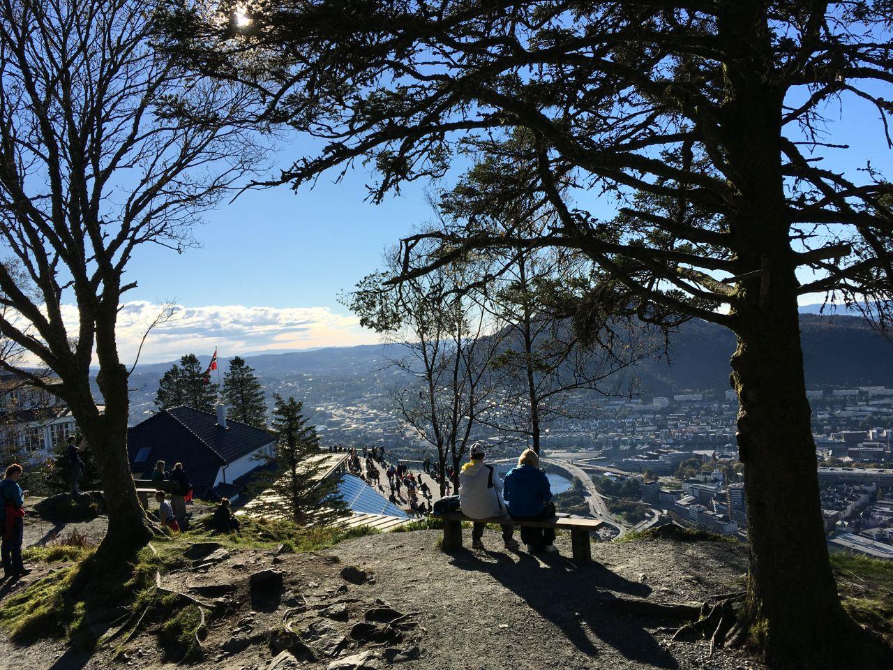 Fløyen by foot. Fløyen view - photo