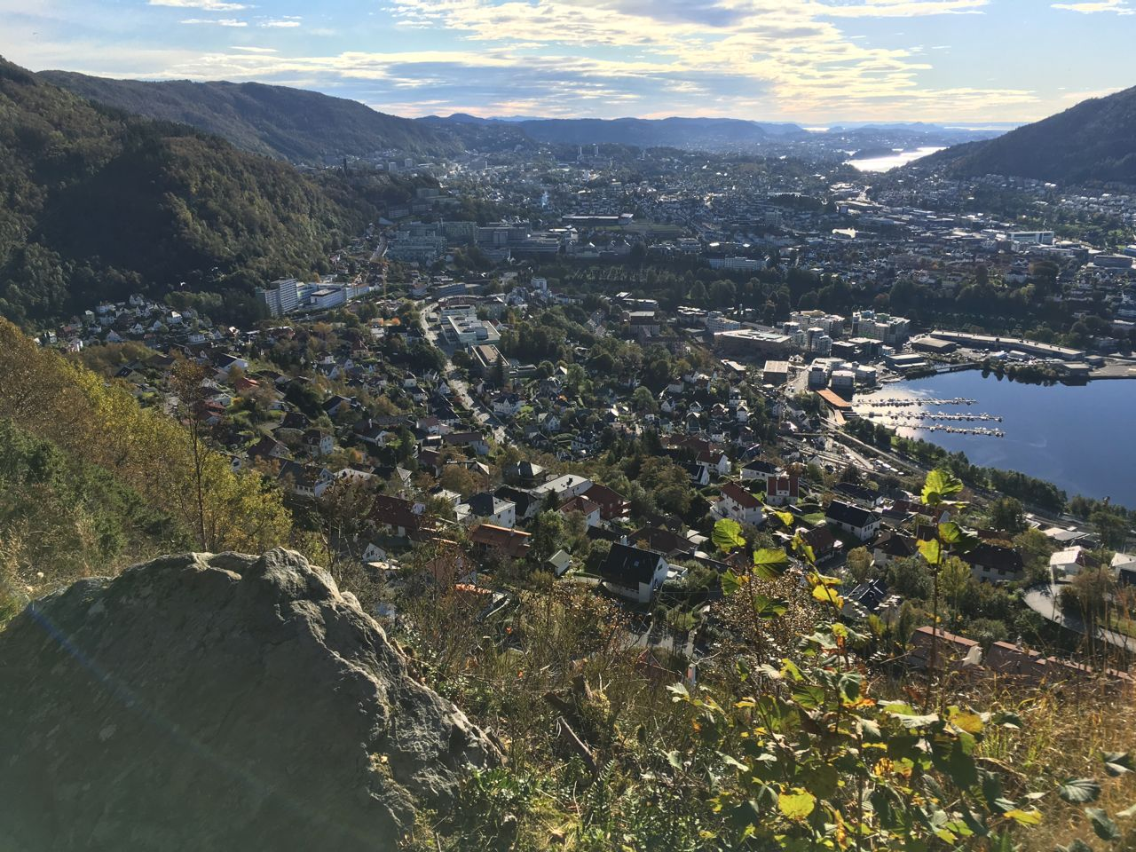 Fløyen by foot.