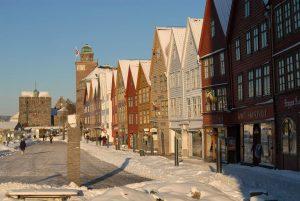Bryggen by winter