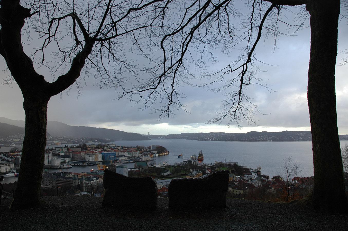 Fjellveien on a rainy day