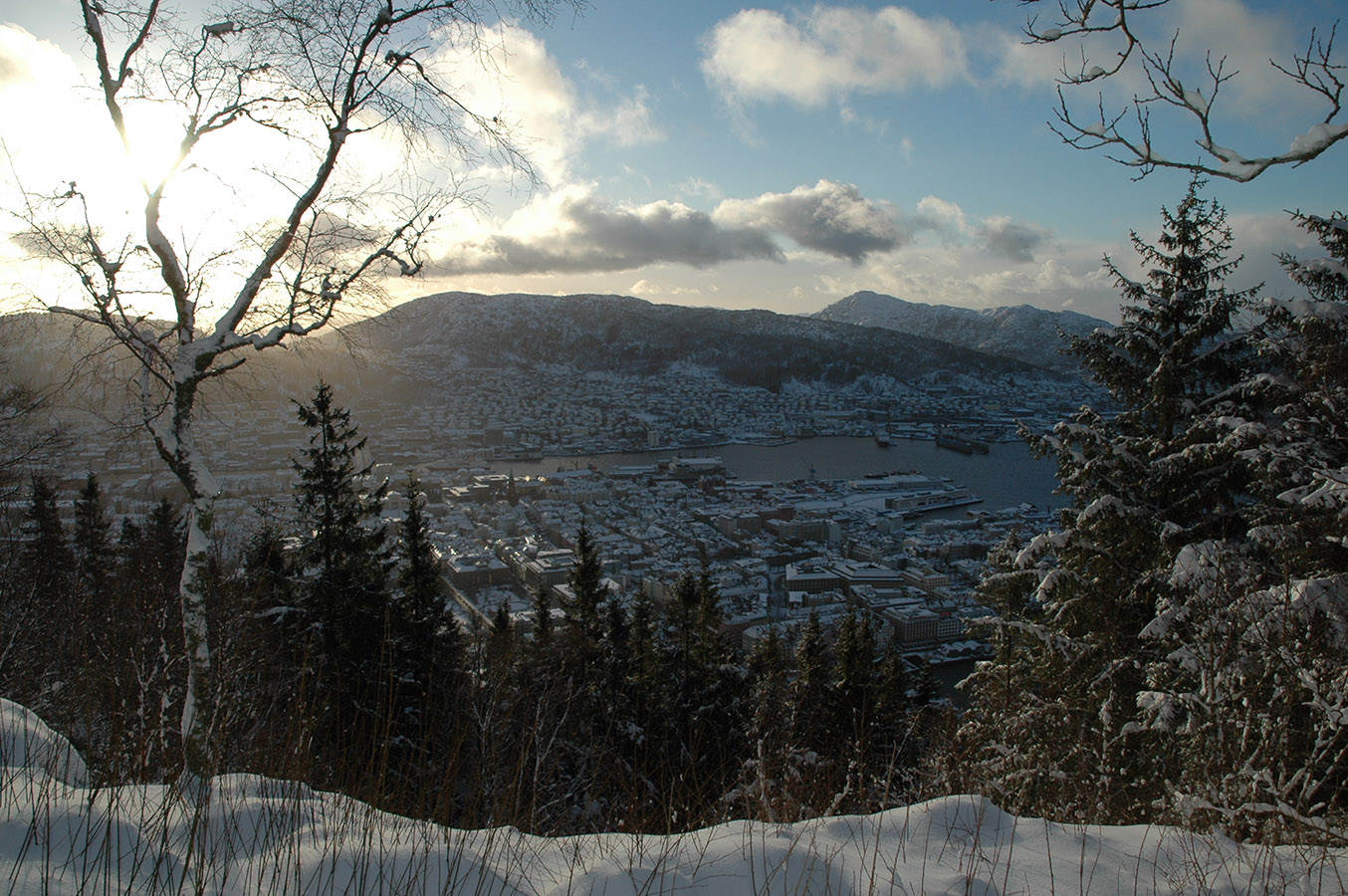 Winter view from Fløyen