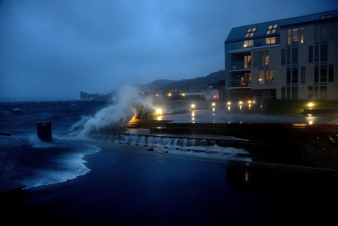 Storm in Sandviken