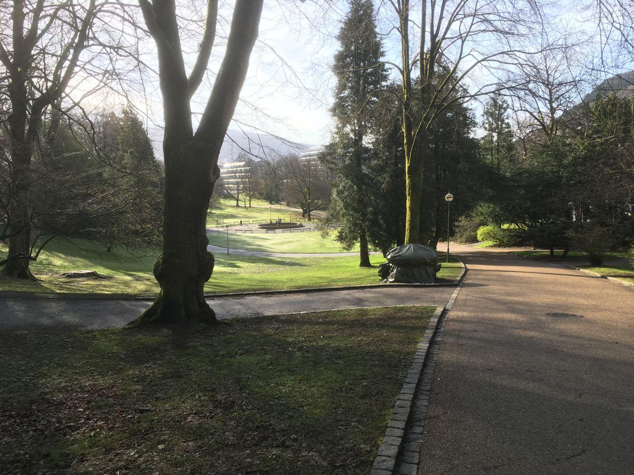 Nygårdsparken park. Photo.