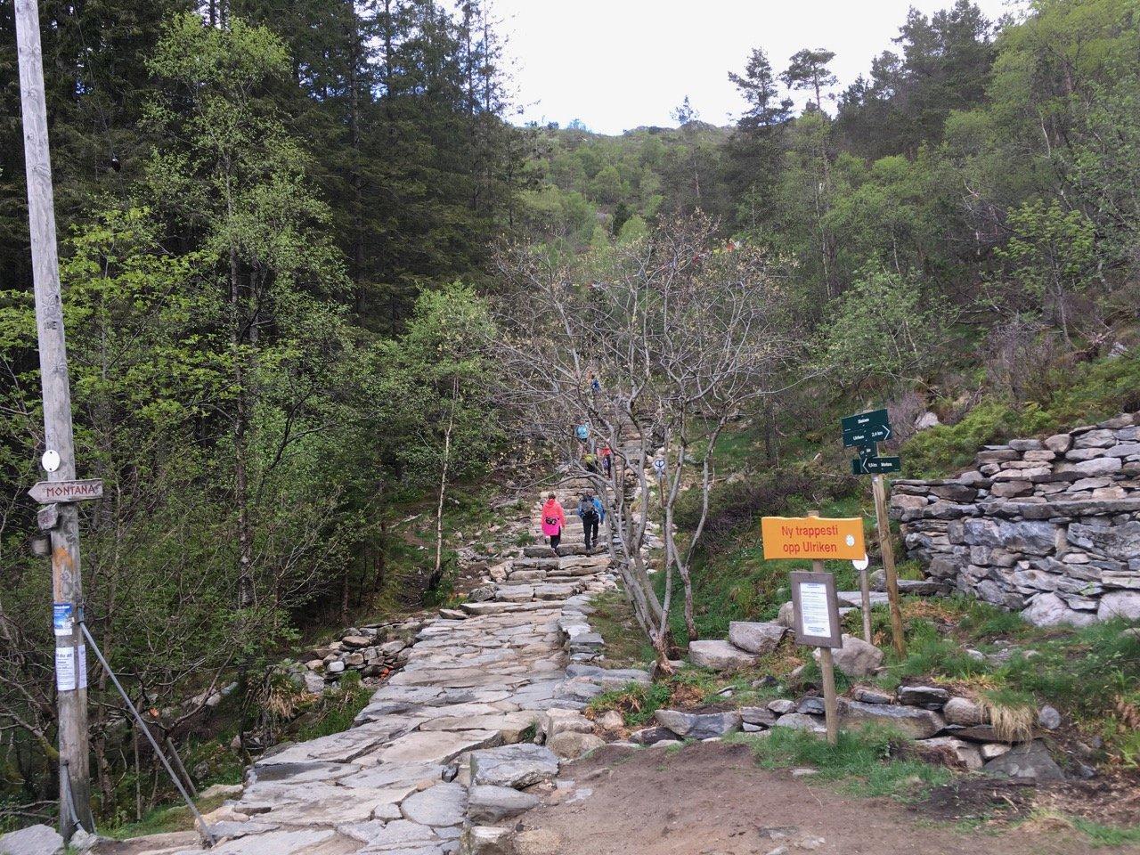 Hiking Ulriken by foot. Photo.