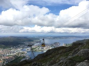 Ulriksbanen cable car line. Photo.